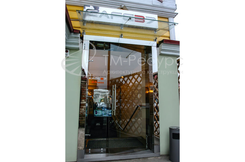 цена входной двери в кафе